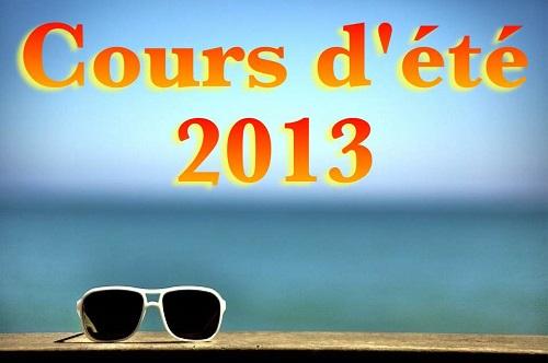 Cours d'été 2013